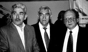 Héctor Valencia, Miguel Gordillo y Carlos Naranjo. Gordillo, militante desde la época del MOEC.
